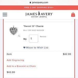 James Avery Jewelry - Sweet 13 Charm